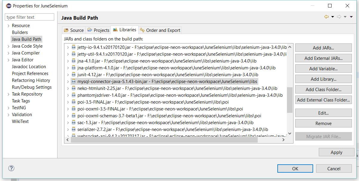 Database testing with Java – Sang Bui